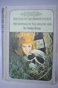 VTG 1970's Nancy Drew Twin Thriller Book Club Edition 2 Stories Rare Keene