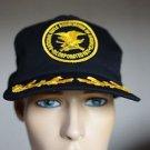 NRA Patriot Black & Gold Vintage Mesh Snap Back Hat Made Orange City, IA USA
