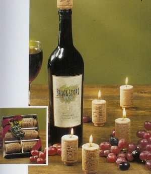 6-pc Wine Cork Candle Gift Set by Lava Enterprises Candles