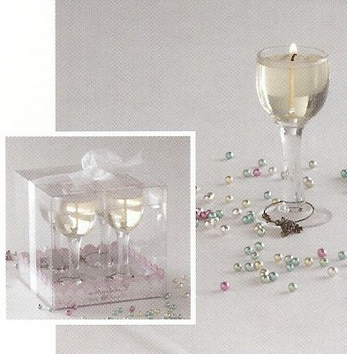 4-pc Mini Wine Glass Specialty Candle Gift Set with Charms by Lava Enterprises