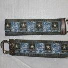 Army design wristlet keychain