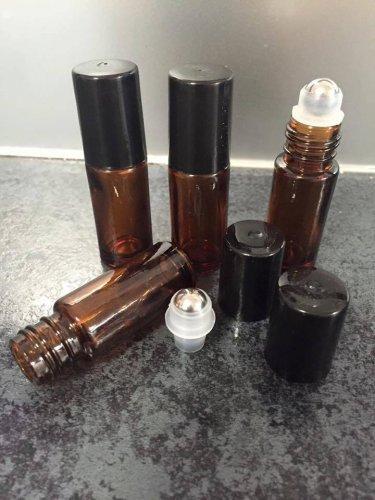 5ml Amber thick roller bottles