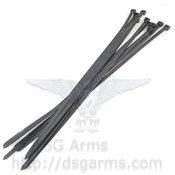 "4 each Package of 11"" Small Black Zip Ties - Qty 25"