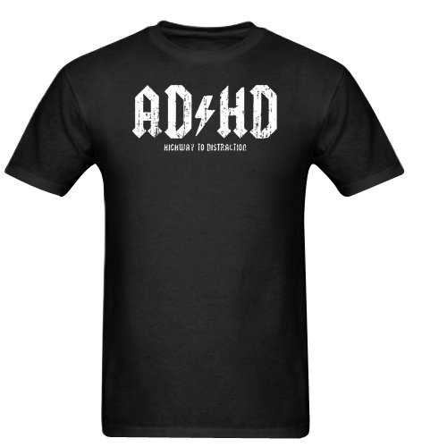 AD HD Highway To Distraction Gildan Men's Standard T-shirt