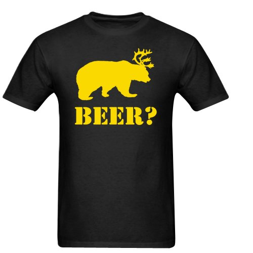 Beer Bear Plus Deer Gildan Men's Standard T-shirt