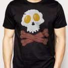 Best Buy Bacon & Eggs Skull & Crossbones funny T-Shirt - Bacon Strips Men Adult T-Shirt Sz S-2XL