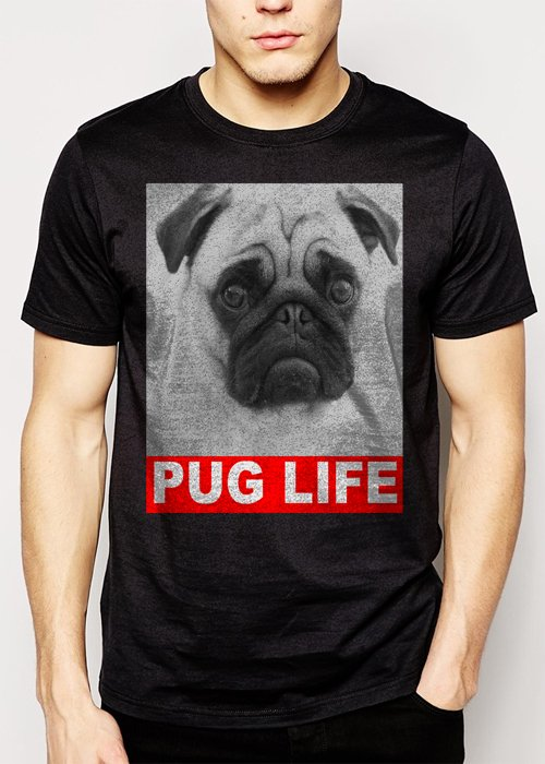 Best Buy Dog Pug Life Slogan Men Adult T-Shirt Sz S-2XL