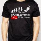 Best Buy EVOLUTION OF SCUBA Diving down Flag Men Adult T-Shirt Sz S-2XL