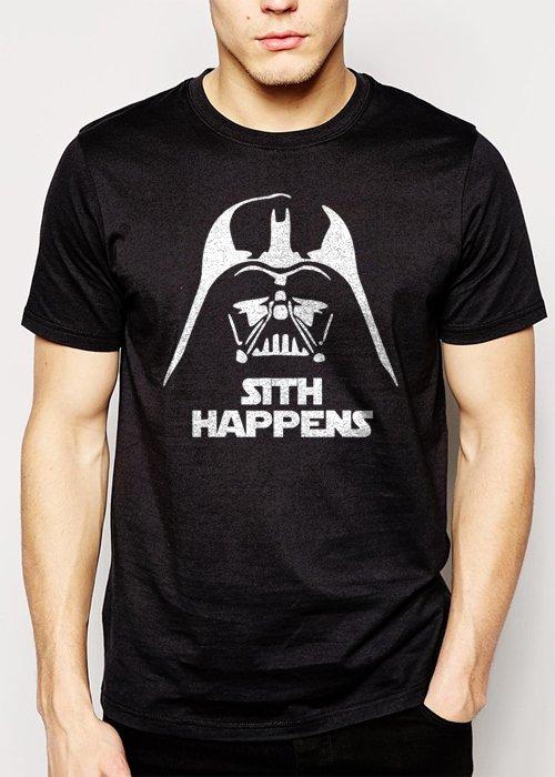 Best Buy FUNNY STAR WARS SHIRT SITH HAPPENS VADER Men Adult T-Shirt Sz S-2XL