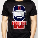 Best Buy Johnny Gomes Boston Red Sox FEAR THE BEARD Men Adult T-Shirt Sz S-2XL