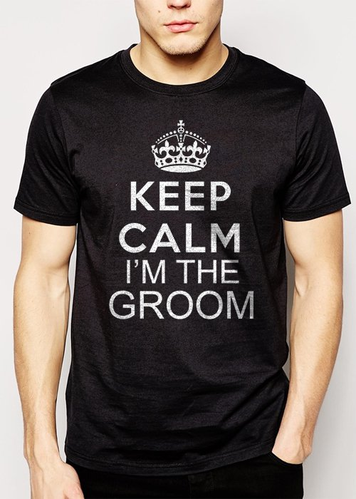 Best Buy Keep Calm I'm The Groom  Men Adult T-Shirt Sz S-2XL