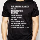 Best Buy Rules For Dating My Daughter T-Shirt - Fathers Day Gift Birthday Men Adult T-Shirt Sz S-2XL