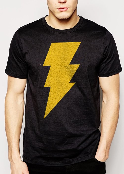 Best Buy CAPTAIN SHAZAM Superhero Comics Men Adult T-Shirt Sz S-2XL