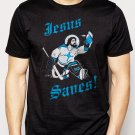 Best Buy JESUS SAVES HOCKEY GOALIE  funny sports Men Adult T-Shirt Sz S-2XL