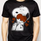 Best Buy Snoopy Love Heart 50s Peanuts Cartoon Strip Men Adult T-Shirt Sz S-2XL