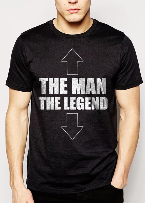 Best Buy The Man The Legend Funny Novelty Inappropriate Men Adult T-Shirt Sz S-2XL