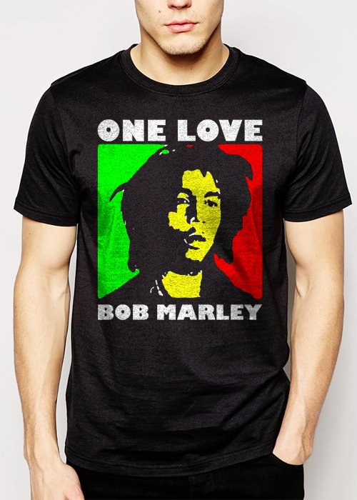 Best Buy Bob Marley One Love Rasta Men Adult T-Shirt Sz S-2XL