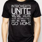 Best Buy Introverts Unite We're Here We're Uncomfortable Men Adult T-Shirt Sz S-2XL