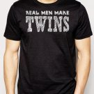Best Buy Real Men Make Twins Funny Dad Men Adult T-Shirt Sz S-2XL