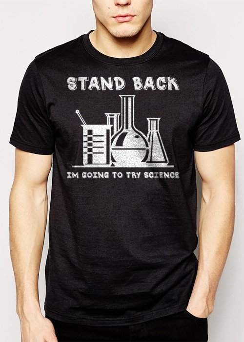 Best Buy SCIENCE SHIRT STAND BACK IM GOING TO TRY SCIENCE FUNNY Men Adult T-Shirt Sz S-2XL