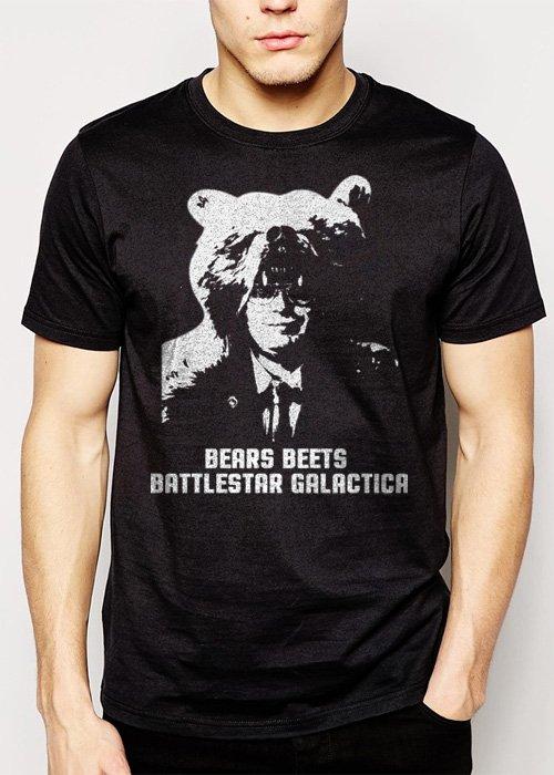 Best Buy THE OFFICE BEARS BEETS BATTLESTAR GALACTICA Men Adult T-Shirt Sz S-2XL