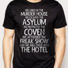 Best Buy We Lived In The Murder House We escaped the Asylum Men Adult T-Shirt Sz S-2XL