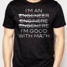 Best Buy I'm An Engineer I'm Good At Math Men Adult T-Shirt Sz S-2XL