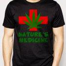 Best Buy Nature's Medicine medical marijuana Men Adult T-Shirt Sz S-2XL