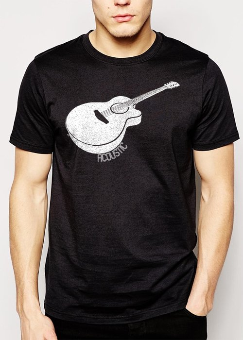 Best Buy Acoustic Guitar Men Adult T-Shirt Sz S-2XL