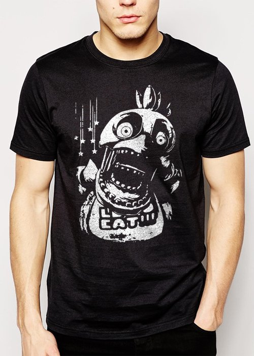 Best Buy Chica FNAF Five Nights at Freddy's Horror Men Adult T-Shirt Sz S-2XL
