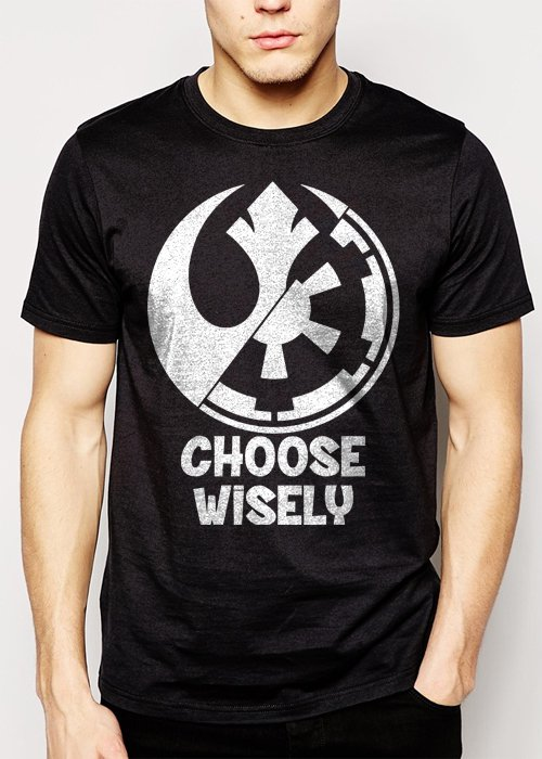 Best Buy Choose Wisely Rebel Alliance Imperial Forces Men Adult T-Shirt Sz S-2XL
