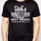 Best Buy DICK'S MEAT MARKET Funny Humor Rude Not Eating Meat Men Adult T-Shirt Sz S-2XL