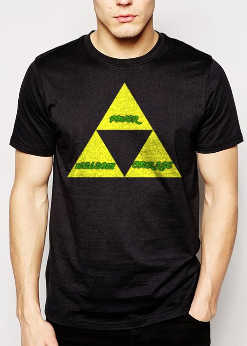 Best Buy THE TRIFORCE Legend of Link Zelda Men Adult T-Shirt Sz S-2XL