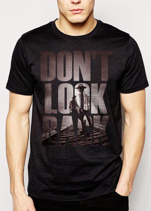 Best Buy The Walking Dead Fan Don't Look Back Men Adult T-Shirt Sz S-2XL