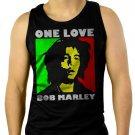 Bob Marley One Love Rasta Men Black Tank Top Sleeveless