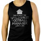 WORLD'S BEST Football Team Manager Men Black Tank Top Sleeveless