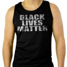 BLACK LIVES MATTER Men Black Tank Top Sleeveless