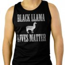 BLACK LLAMA LIVES MATTER Men Black Tank Top Sleeveless