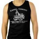 Camel Towing Adult Humor Rude Tow Truck Men Black Tank Top Sleeveless