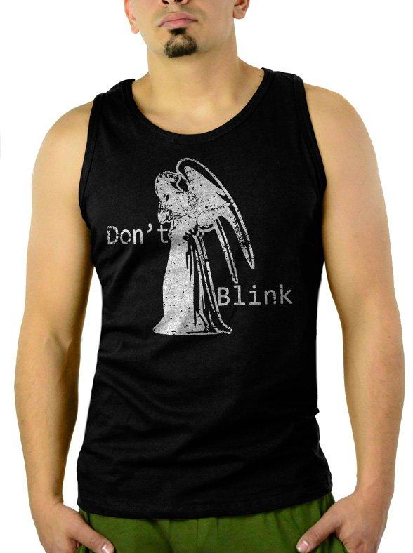 DON'T BLINK DOCTOR WHO WEEPING ANGEL Men Black Tank Top Sleeveless