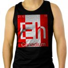 Eh Canadium Funny Periodic Table Men Black Tank Top Sleeveless