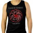 Game of Thrones Targaryen Men Black Tank Top Sleeveless