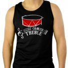 HERE COMES TREBLE TROUBLE MARCHING BAND TEACHER MUSIC Men Black Tank Top Sleeveless