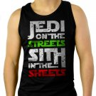 Jedi In The Streets Sith In The Sheets Movie Funny Men Black Tank Top Sleeveless