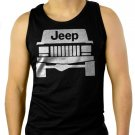 Jeep Cherokee Grill Men Black Tank Top Sleeveless