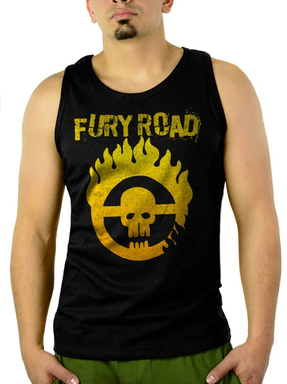 MAD MAX FURY ROAD Men Black Tank Top Sleeveless