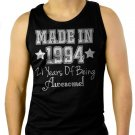 Made In 1994 - 21 Years Of Being Awesome Men Black Tank Top Sleeveless