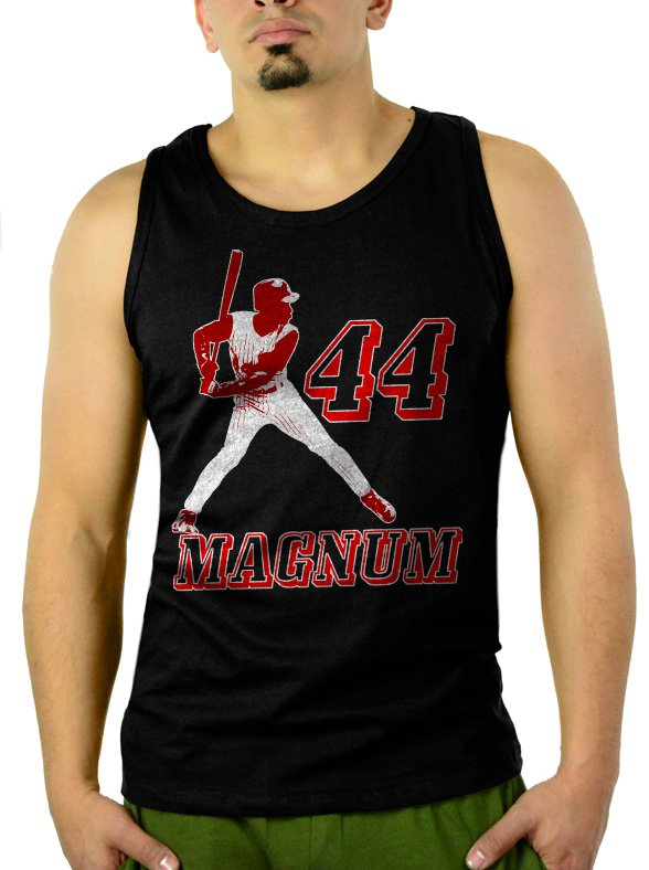 Magnum 44 Eric Davis Reds Men Black Tank Top Sleeveless