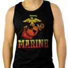 Marine Corps US United States Marines USMC Men Black Tank Top Sleeveless