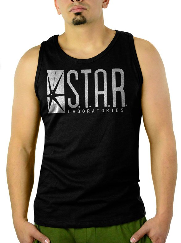 Star Labs Captain TV Laboratories Men Black Tank Top Sleeveless